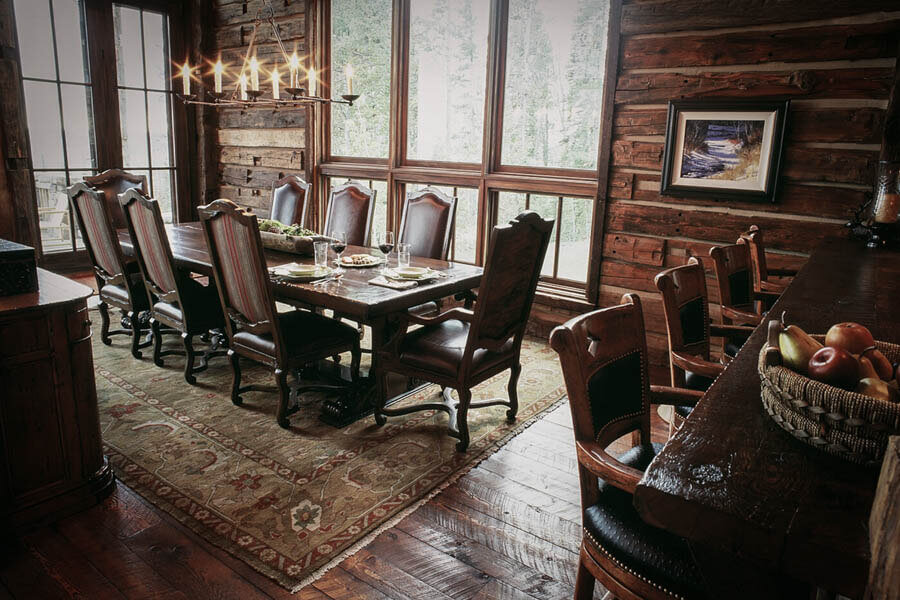 Miller Architects Domaille Mountain, Mountain Lodge Dining Room Furniture